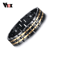 Men Healthy Magnetic Bracelet 18K Gold Black Plated Energy Bracelets For Men JewelryWholesale Chain Link Magnet