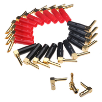 20Pcs Speaker Wire Pin Plug Banana Connectors 4.3mm Gold Plated Audio Speaker Cable Wire Connectors