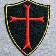 Лидер продаж комплектов!~~ Христос красный крест щит железа на заплатках, нашивка на одежду, Аппликации, сделано из ткани, гарантированное качество
