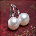 Natural pearl jewelry, freshwater cultured pearl earrings bridesmaid gifts girls love free shipping