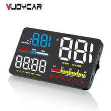 "5 ""Car HUD OBD OBD2 Head Up Display Tachimetro Digitale Parabrezza Proiettore Fatica Allarme Carburante Calibro di Velocità del A8 A1000(China)"