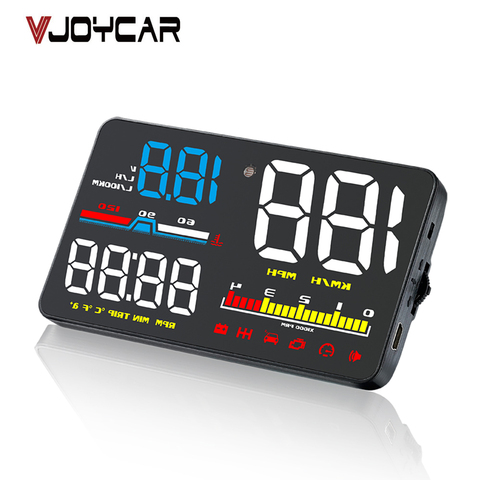 5 obd2 cabeca up display hud obd do carro velocimetro digital brisa projetor fadiga alarme