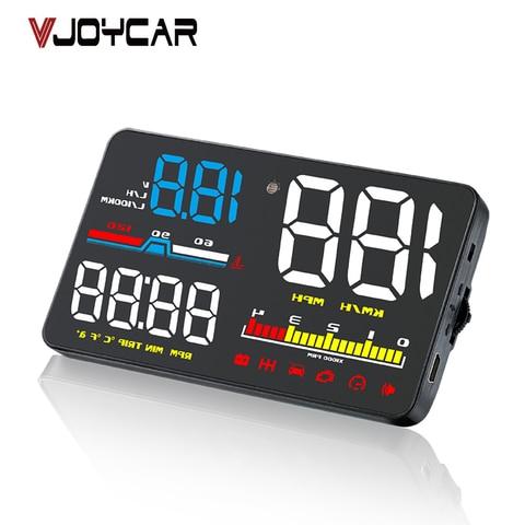 5 obd2 cabeca up display hud obd do carro velocimetro digital brisa projetor fadiga alarme