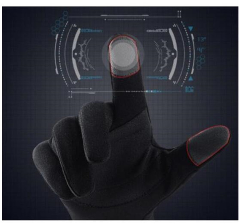 Moto Touch Screen Warm Winter Glove Fleece Lined Motorcycle Gloves Waterproof Guantes Windproof Gloves Motorcycle Black Grey in Gloves from Automobiles Motorcycles