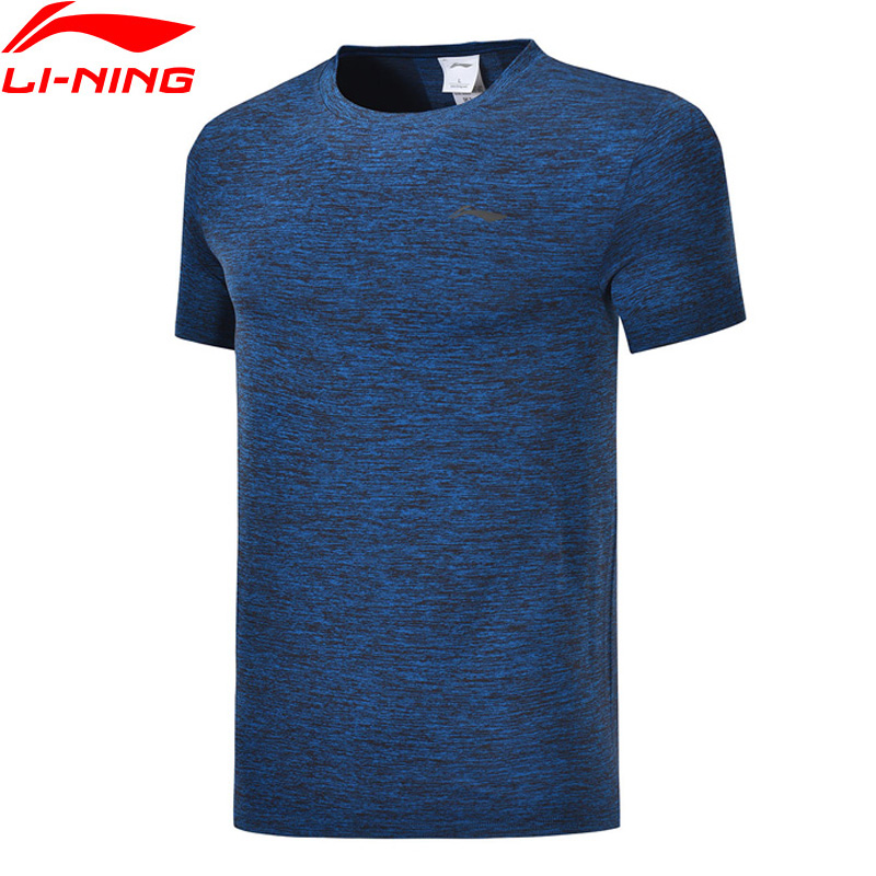 Li-Ning Men Training Series Sports T-Shirt Nylon Polyester Regular Fit Seamless Breathable LiNing Sport Tee ATSP095 MTS3086
