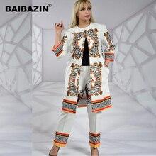 BAIBAZIN African Dashiki Women Clothing Symmetrical Print Commuter Large Size Two-Piece Set