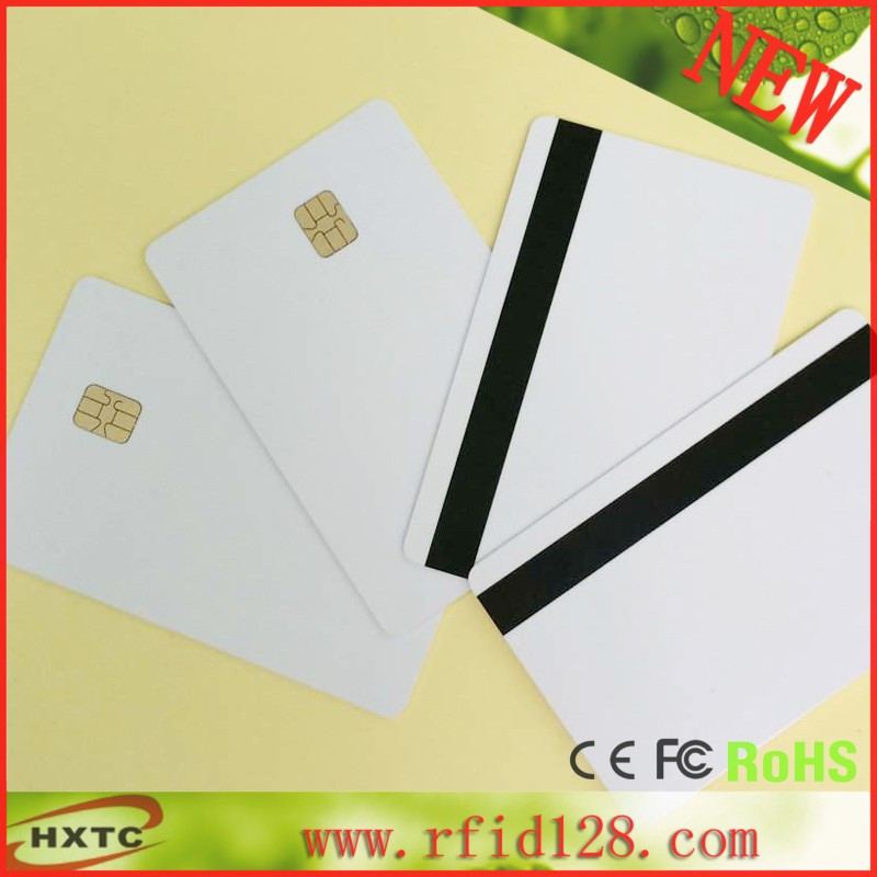 200PCS/Lot Customizable 2 in 1 SLE4442 With Hi-Co 2 track 8.4mm Magnetic Stripe smart chip PVC Card 200pcs lot customable 8 4mm mag stripe 2 track pvc smart ic card for iso hi co 2750 3000 4000 oe