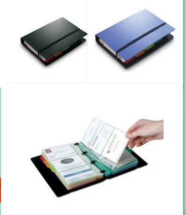 1pc 180 capacity refillable business card holder ring binder folio book card album holder k0958 - Business Card Binder
