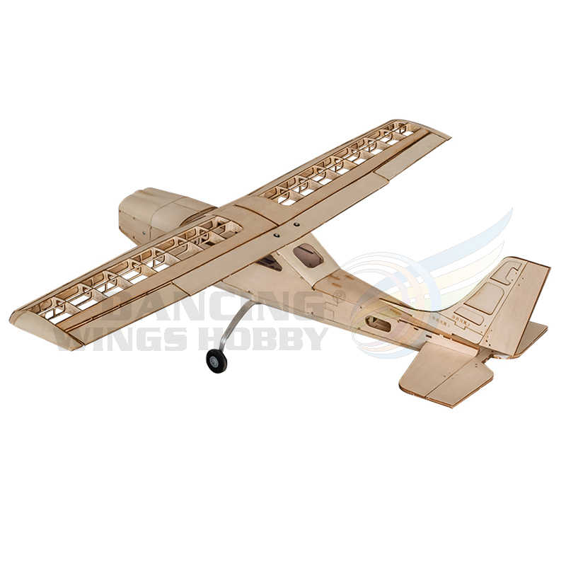 RC Plane Cessna Model Airplane Toy 960mm Wingspan Laser Cutting Balsa Wood  Aircraft Model Building Kits for Adults
