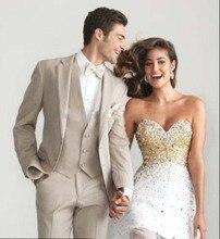 Custom Made Mens Wedding Suits Groom Tuxedos Jacket+Pant+Vest+Tie Formal