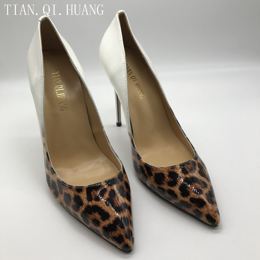New Women Pumps Shoes High Heels Designer Patent Leather Wedding Bridal Shoes Sexy Women's Shoes With Heels TIAN.QI.HUANG Brand 2