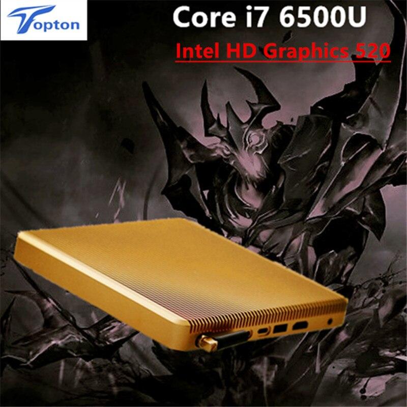 topton core i7 6500u fanless mini pc windows 10 intel hd graphics 520 skylake 150m wifi htpc tv. Black Bedroom Furniture Sets. Home Design Ideas