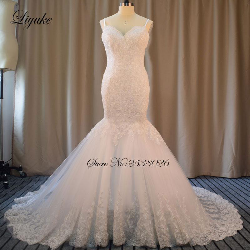 Liyuke elegante escote corazón de alta calidad de la sirena vestido - Vestidos de novia