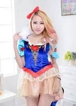 Cosplay de halloween para las mujeres snow white princess dress swallow tail anime trajes de alta calidad femininas fancy dress