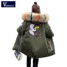 ファッションカジュアル婦人服 2020 冬のフード付きジッパーワイド腰女性コート厚い暖かいジャケット女性ロングパーカー