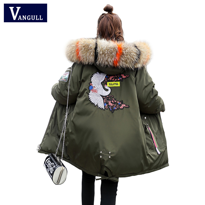Fashion Casual Women's Clothing 2019 Winter Hooded zipper Wide-waist female Coats Thick with Warm Jacket women long   Parkas
