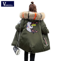 Fashion Casual Women's Clothing 2019 Winter Hooded zipper Wide waist female Coats Thick with Warm Jacket women long Parkas