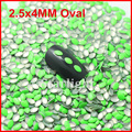 3d nail art supplies 1000pcs/pack 2.5*4MM Oval Dk.green for Rhinestone nail art Craft DIY Decoration
