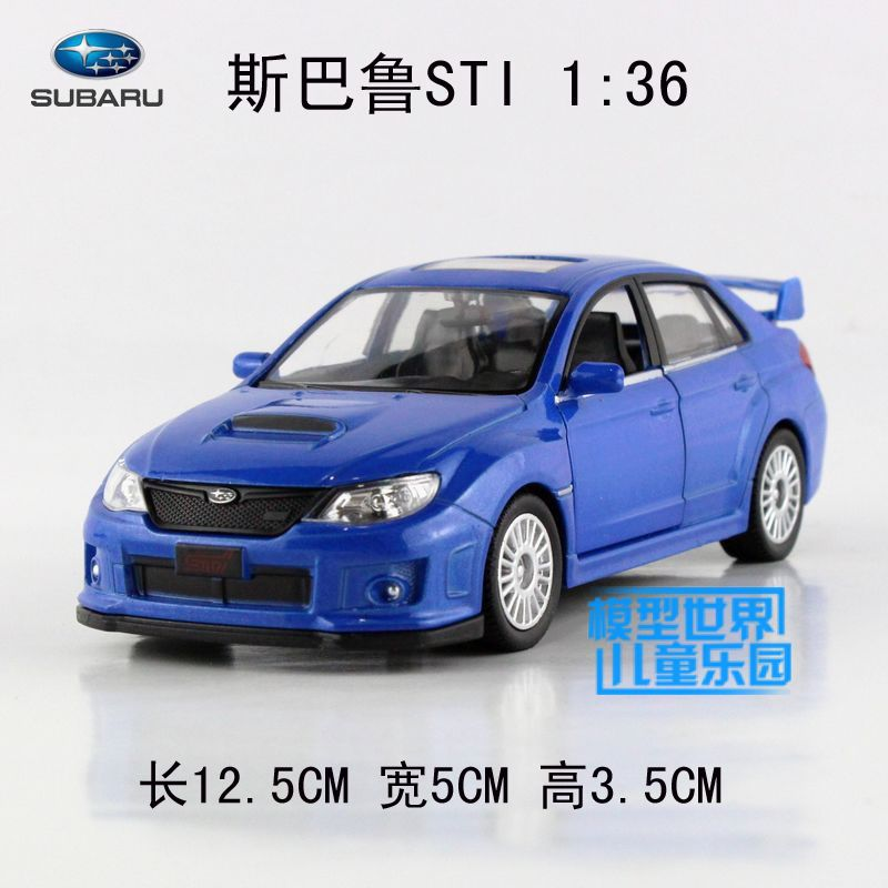 High Simulation 1:36 Subaru STI ,alloy Pull Back Model Cars,metal Gift Toys,Double Door Car,wholesale
