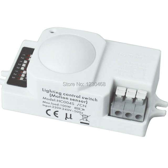 10 pcs/lot Microwave Motion Sensor light switch with ON/OFF ...