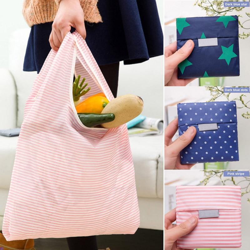 Shopping Bag Handbag Storage Foldable Reusable Oxford Cloth Tote For Grocery Key Chain New
