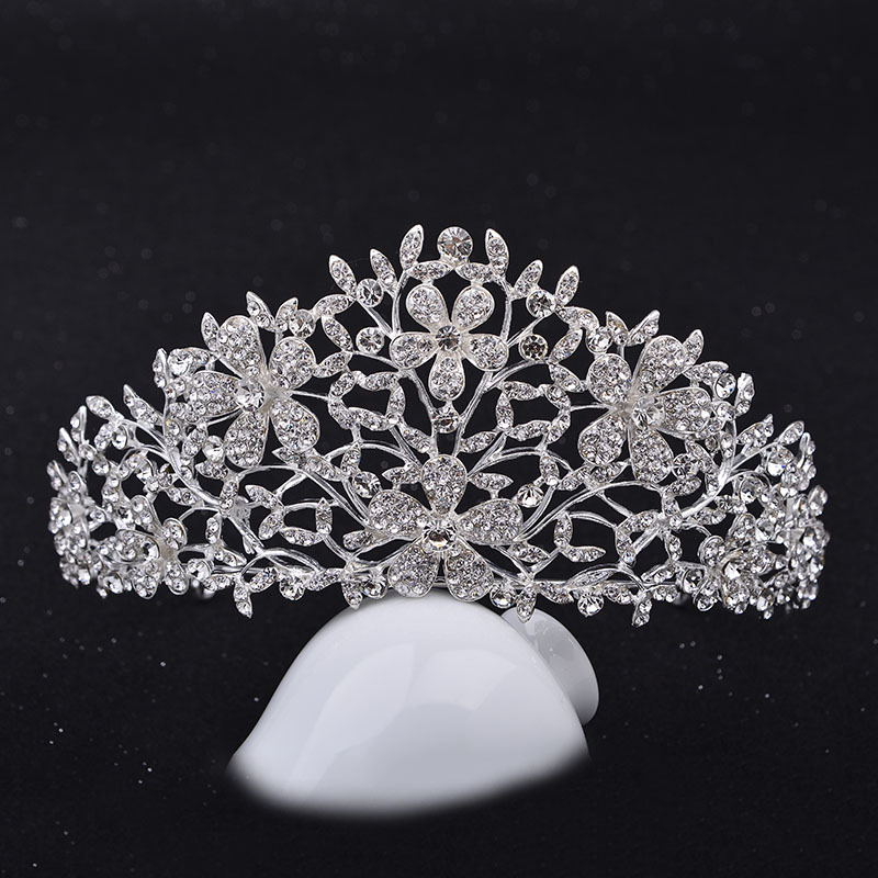 The bride headdress round crown crown wedding ornaments jewelry show small ring wedding dress accessories
