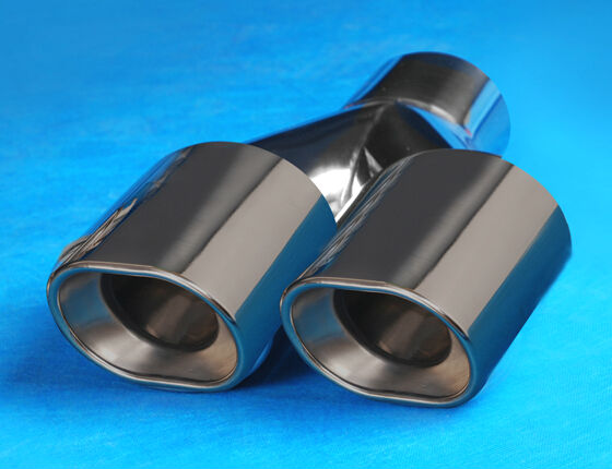 ФОТО Stainless steel 304 mirror polished  dual universal exhaust muffler tip  car-styling