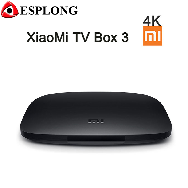 Original XIAOMI TV BOX 3 Andriod 5 0 Quad Core 4K Media Player S905 64Bit BT4