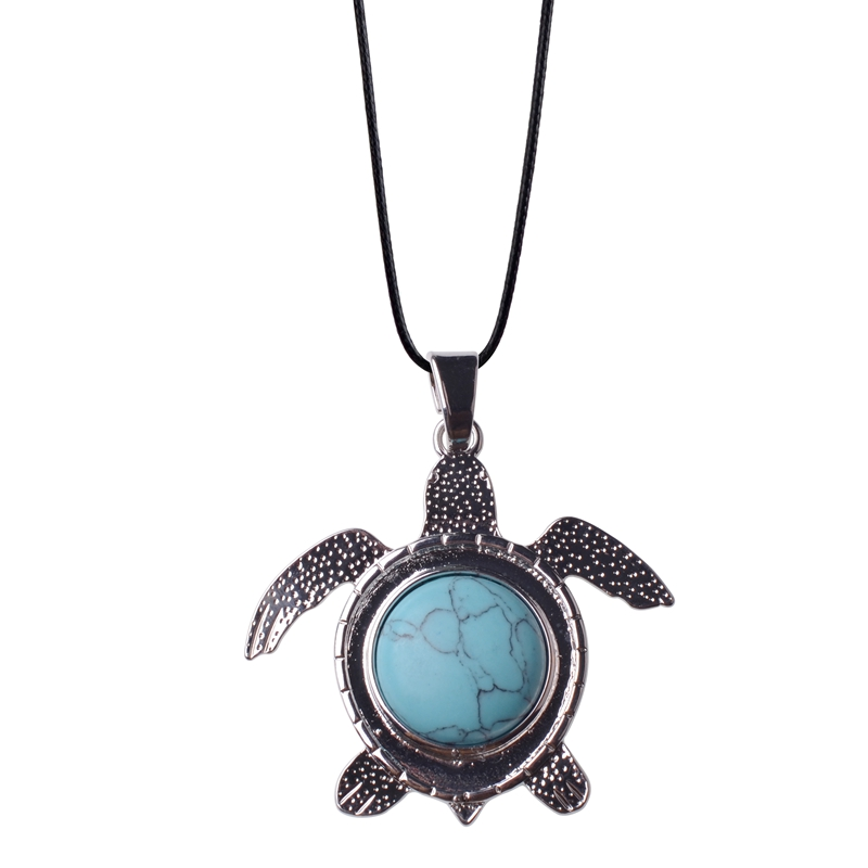2018Natural Stone Crystal Jewelry Couple Necklace Fashionable Birthday Gift Sea Turtle Pendants Man Woman