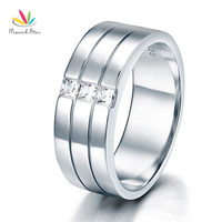 Men S Wedding Band Solid Sterling 925 Silver Christmas Present Gift Ring CFR8049