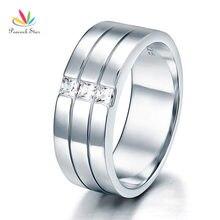 Павлин звезда Для мужчин обручальное кольцо Твердые Стерлинг 925 Серебряное кольцо ювелирные изделия CFR8049