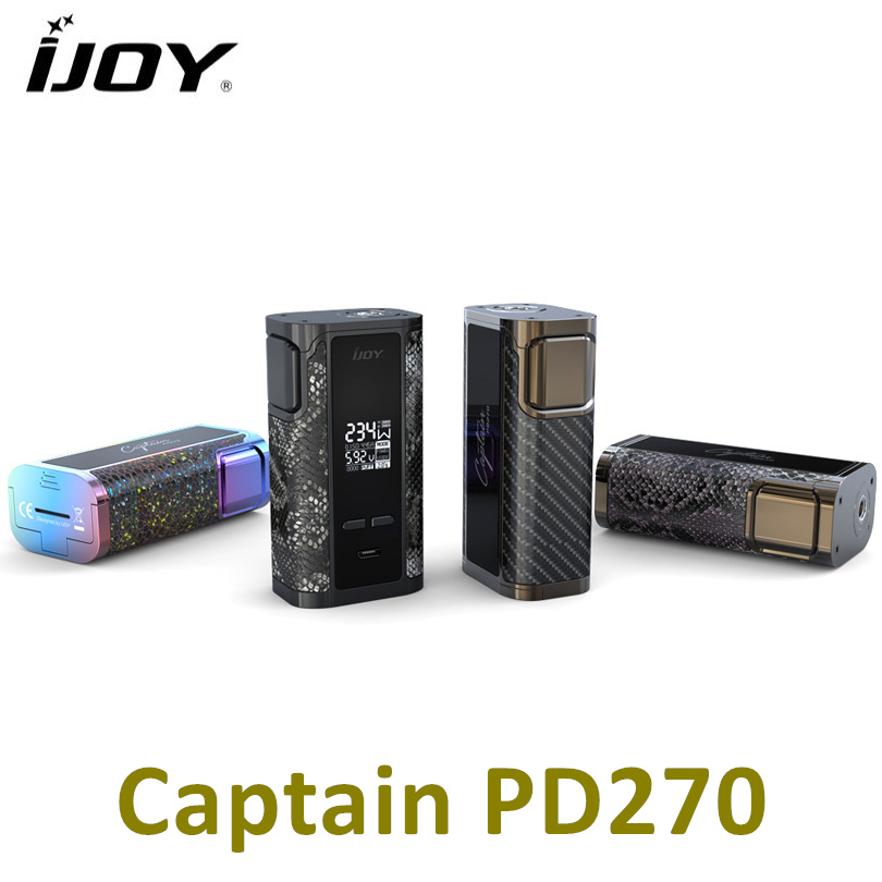 Original IJOY Captain PD270 Box MOD Vape 234W NI/TI/SS TC Electronic Cigarette Vaper Power by Dual 20700 Battery original ijoy captain pd270 234w box mod
