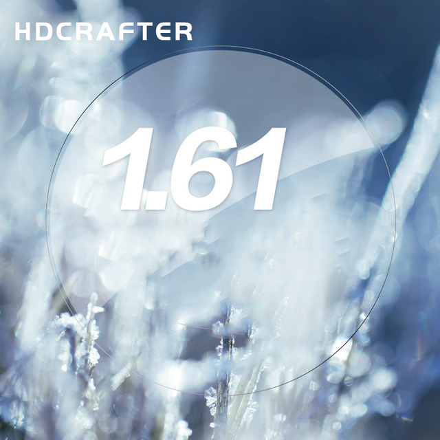 Custom made top quality HDCRAFTER Mingyue Aspherical 1.61 resin lens Myopia eye glasses optical lens