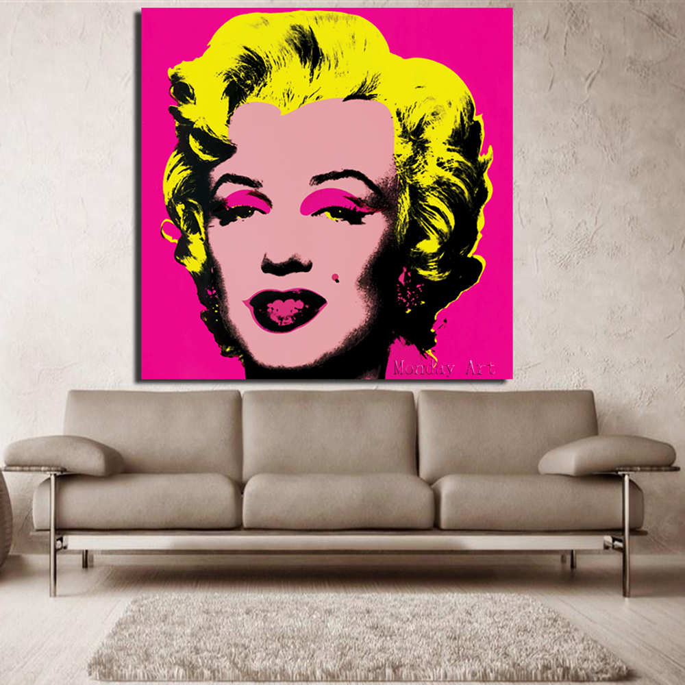 RELIABLI-Andy-Warhol-Marilyn-Monroe-Canvas-Paintings-Pop-Art-Canvas-Print-Posters-Rosy-Color-Modular-Pictures (3)