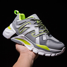 Mens hip hop dancing Shoes Sneakers Men Trainers Lace-up thick bottom kanye west Zapatos De Hombre
