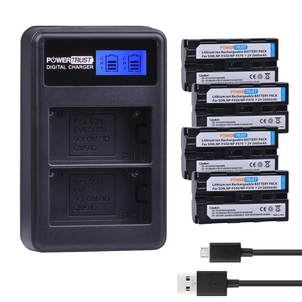 4Pcs NP-F550 NP F550 NPF550 Camera Battery +LCD USB Dual Charger For Sony CCD-TRV81 CCD-RV100 RV200 CCD-SC5 CCD-SC9 CCDTR1 TR215 durapro 4pcs np f970 np f960 npf960 npf970 battery lcd fast dual charger for sony hvr hd1000 v1j ccd trv26e dcr tr8000 plm a55