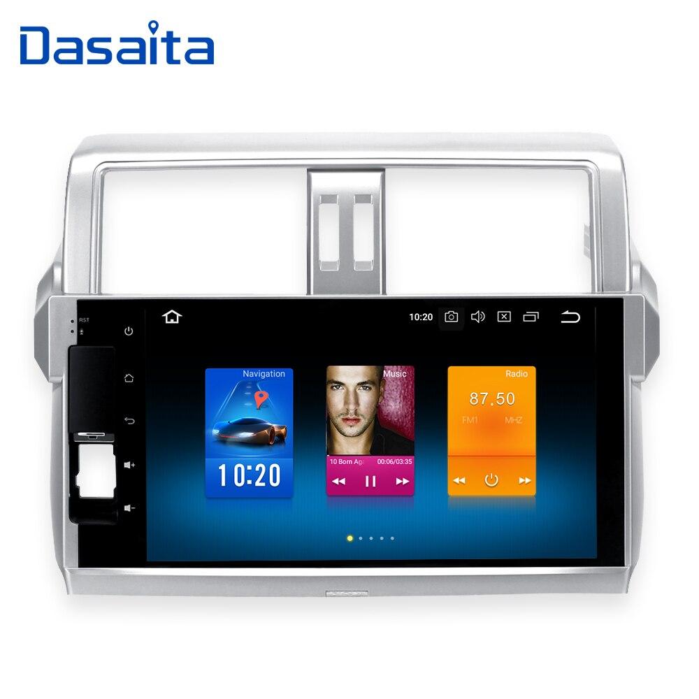 Dasaita Android 8.0 Voiture Double Din pour Toyota Nouveau Prado 150 2014 2015 Construire dans GPS 1024*600 10.2 écran