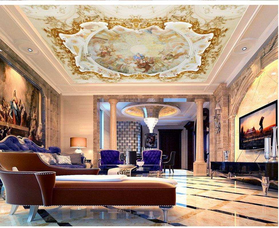 Ceiling Wallpaper 3d Wallpaper 3d Ceiling Angel European Embossed Zenith