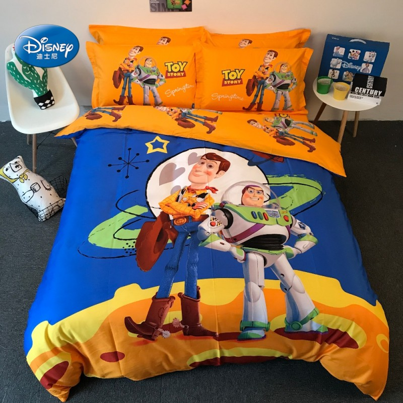 Disney Yellow Toy Story Comforter Cover Bedding Set Twin Queen King Duvet Cover Set Buzz Lightyear Boy Gift Bedroom DecorDisney Yellow Toy Story Comforter Cover Bedding Set Twin Queen King Duvet Cover Set Buzz Lightyear Boy Gift Bedroom Decor