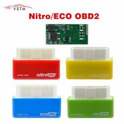 2020 ECU Chip Nitro OBD2 EcoOBD2 4Colors Tuning Box Plug & Driver NitroOBD2 Eco OBD2 For Benzine Diesel Car Fuel Save More Power