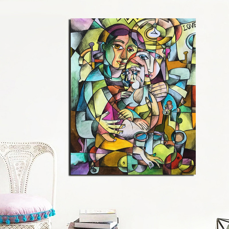 Pablo Picasso Cubismo Canvas Painting Print Living Room Home Decoration Modern Wall Art Oil Painting Posters Pictures Framework in Painting Calligraphy from Home Garden