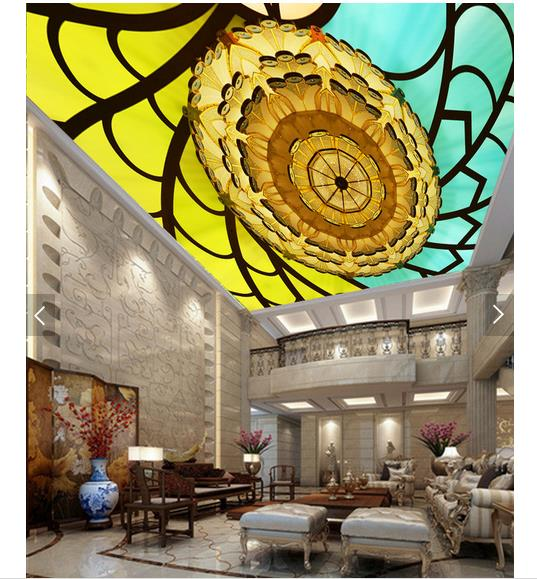 3d Wallpaper Benutzerdefinierte Decke Tapete Wandmalereien Europa Typ Kreisfrmigen Muster Zenit Hintergrund Wand Wohnzimmer Fototapete