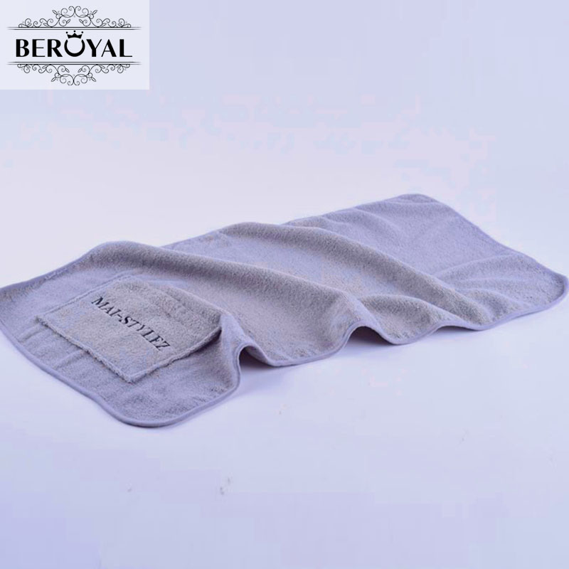 Exercise Towel With Pocket: 2X 100% Cotton Super Soft Sports Gym Towel With Zipper