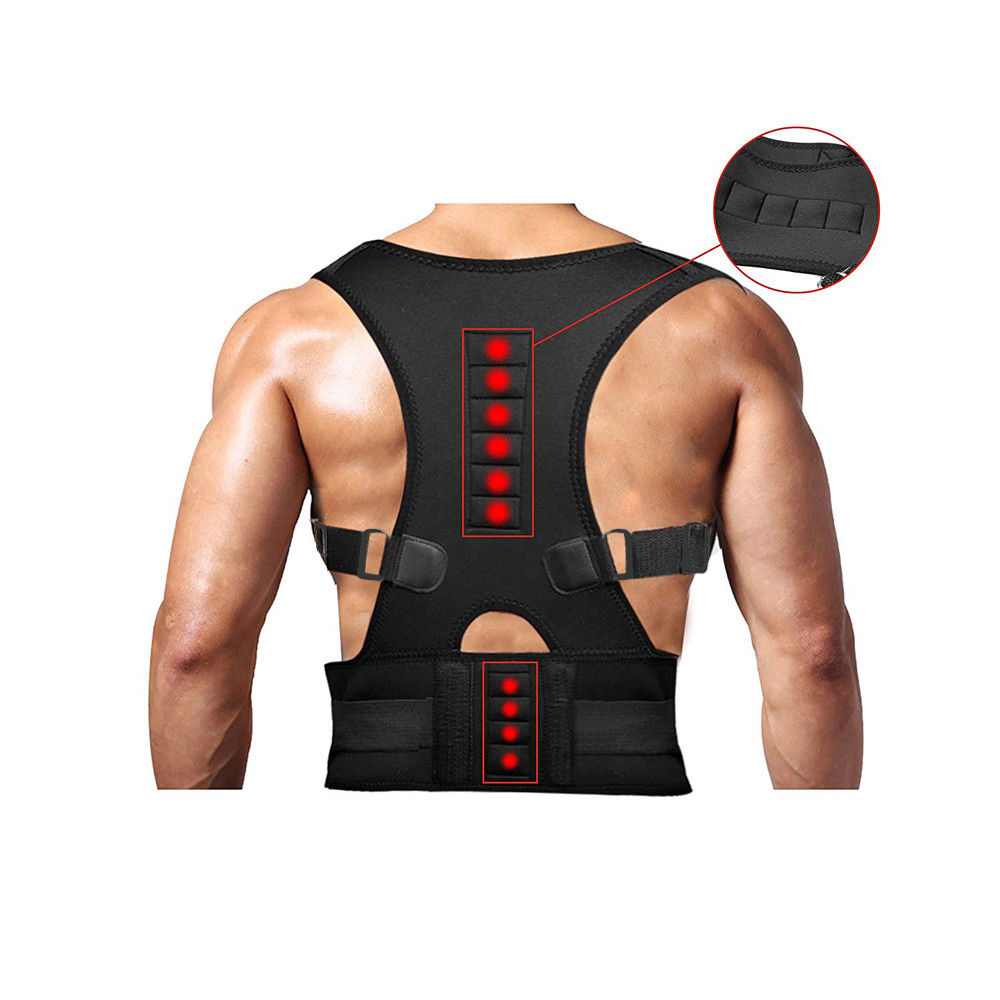 Good Healthy Posture Corrector Support Magnetic Back Shoulder Brace Belt for Unisex Adults Students