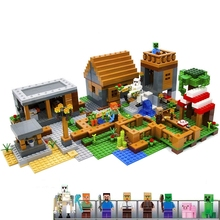 hot deal buy  model building kits compatible with 21128 my worlds village blocks educational toys hobbies birthday gifts