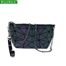 new fashion Luminous discoloration women messenger bags chain bag Geometric casual  crossbody shoulder