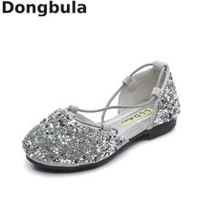 2019 Summer Kids Sandals For Girls Princess Shoes Fashion Little Girl Shiny Rhinestones Childrens Baotou Dance