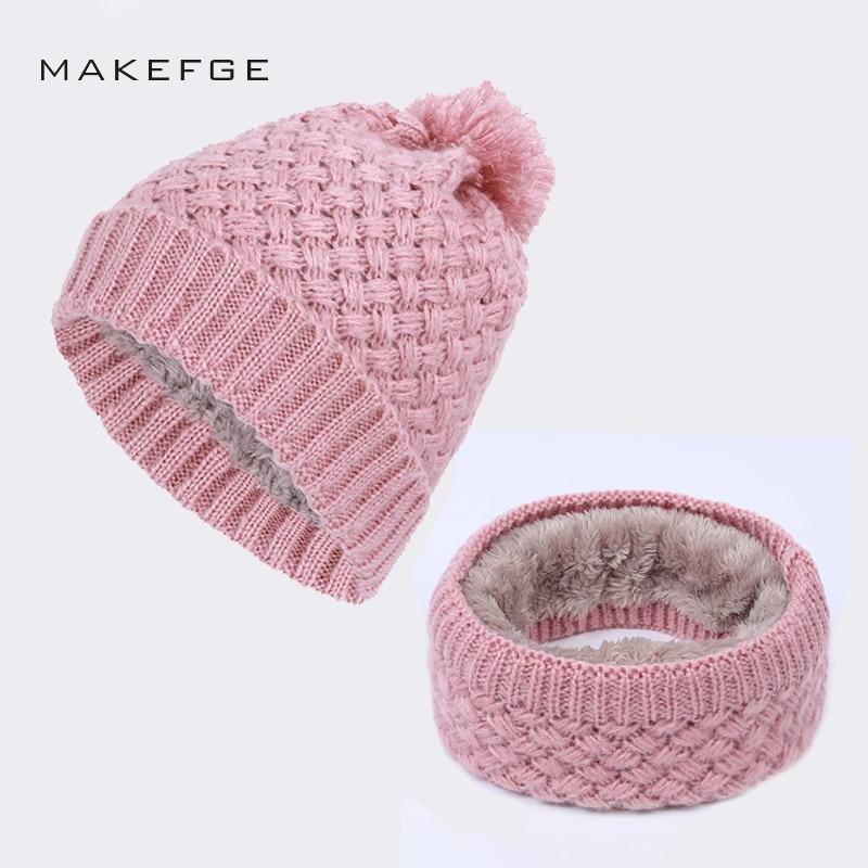 Women's knit cotton cap warm and comfortable autumn and winter new plus velvet thick ski mask hat bib female   Beanies     Skullies