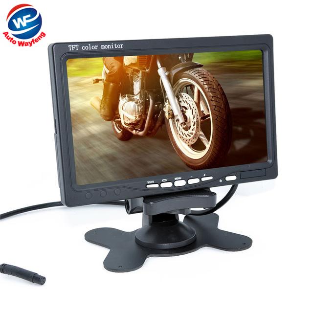 Factory Selling New Car Monitor 7 Digital Color TFT 16:9 LCD Car Reverse Monitor with 2 Bracket holder for Rearview Camera DVR