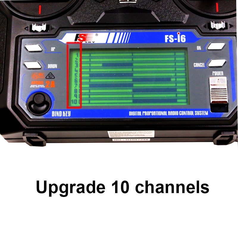 10 ch FLYSKY FS i6 sender firmware aktualisiert 10 kanal i6 mit IA10 empfänger 2,4g 10 kanal radio control system für RC-in Teile & Zubehör aus Spielzeug und Hobbys bei  Gruppe 1